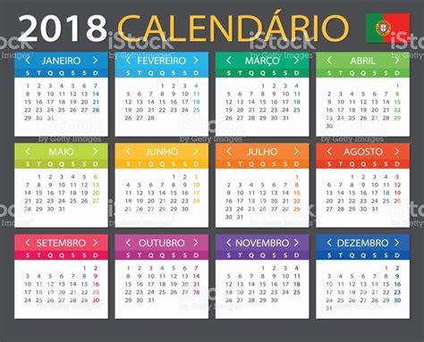 Calend Brasileiro 2018 Calend 225 2018 Vers 227 O Em Portugu 234 S Vetor E Ilustra 231 227 O