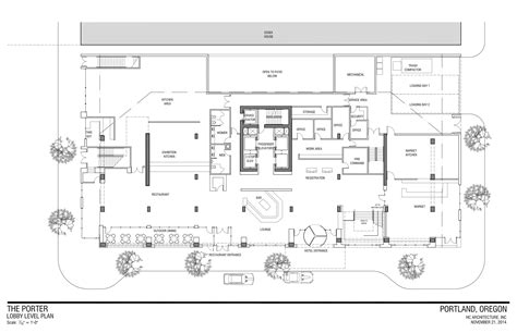 Loading Dock Floor Plan by Ea 14 217236 Portland Curio Hotel Drawings First Floor Next Portland