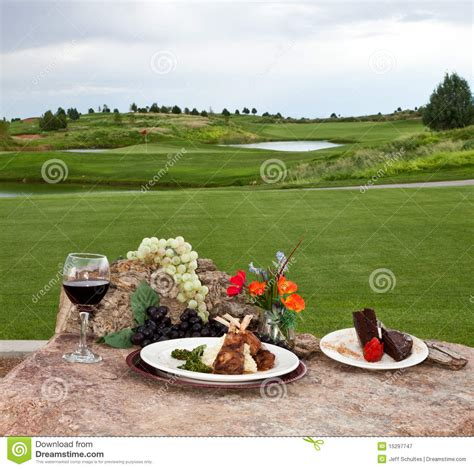 dinner courses dinner at the golf course royalty free stock photography