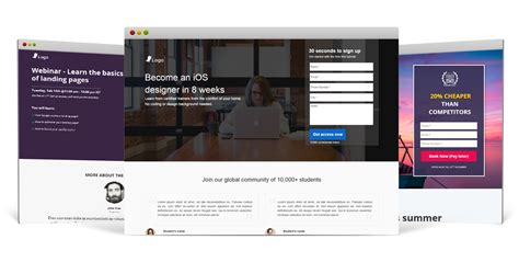 mobile landing page builder responsive landing page builder leadsquared marketing