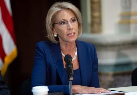 betsy devos job betsy devos denies rumors she s leaving ed secretary job