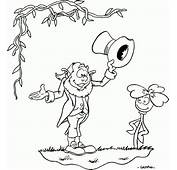 Leprechaun Greeting Flower Coloring Pages Printable