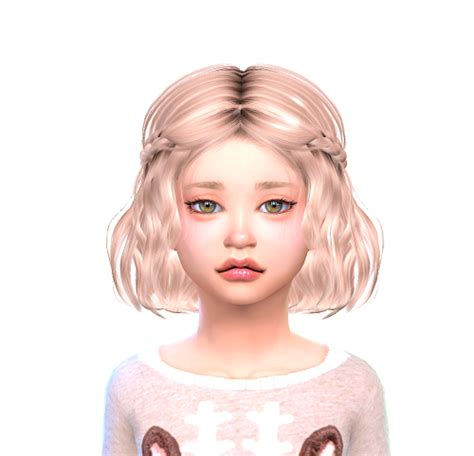 the sims 4 hair for female kids the sims resource sims 4 child hair tumblr