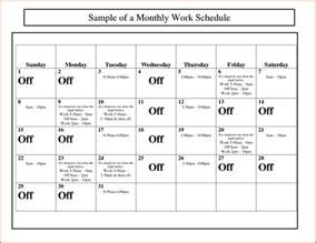 Excel Work Schedule Template Monthly by Monthly Work Schedule Template Proposalsheet