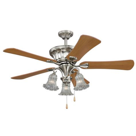 Turn Of The Century Ceiling Fans by Turn Of The Century Cambridge 52in Satin Nickel Ceiling