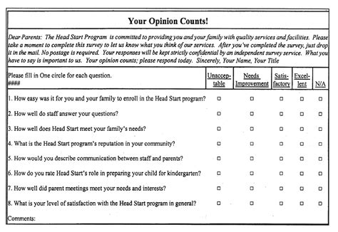 Parent Satisfaction Survey Template by Parent Surveys