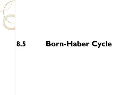 born haber exercise 8 0 thermochemistry student s copy