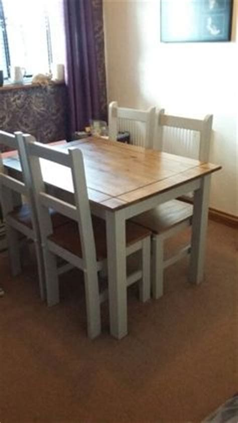 upcycled dining room table corona style dining room table and chairs upcycled with crushed almond shade of paint it