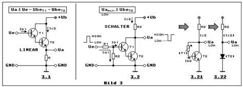 darlington transistor als schalter schalten und steuern mit transistoren i bs170 bs250 bc547 bc560 schaltuhr modul sc 77 m sc77m