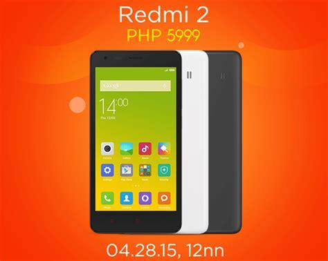 Handphone Xiaomi Redmi 2 Lazada xiaomi redmi 2 to go on sale on april 28 for 5 999 via lazada philippines techno guide