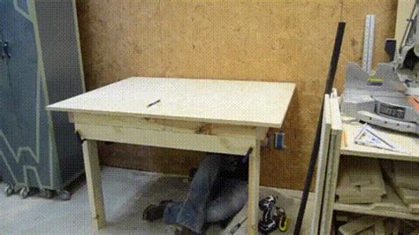 how to build a fold out table how to build a fold work table gotta go do it yourself