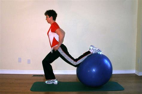lunges exercise   ball