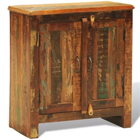 Vidaxl Co Uk Reclaimed Wood Cabinet With Two Doors Reclaimed Cabinet Doors