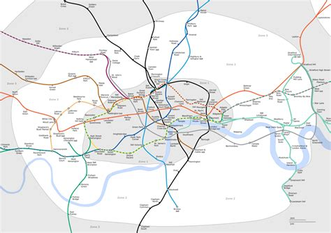 underground map zones list of stations in fare zone 2
