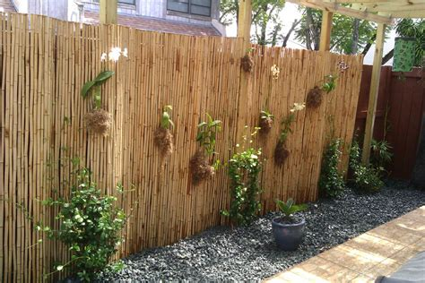 astounding bamboo fence decorating ideas