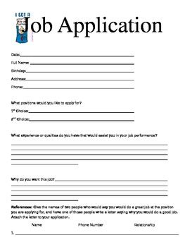 Classroom Application 3rd Grade Classroom Economy Application By