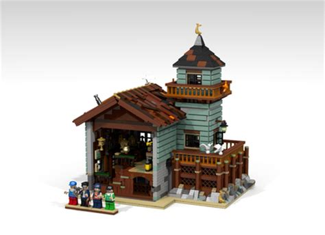 lego boat repair shop anleitung lego ideas old fishing store