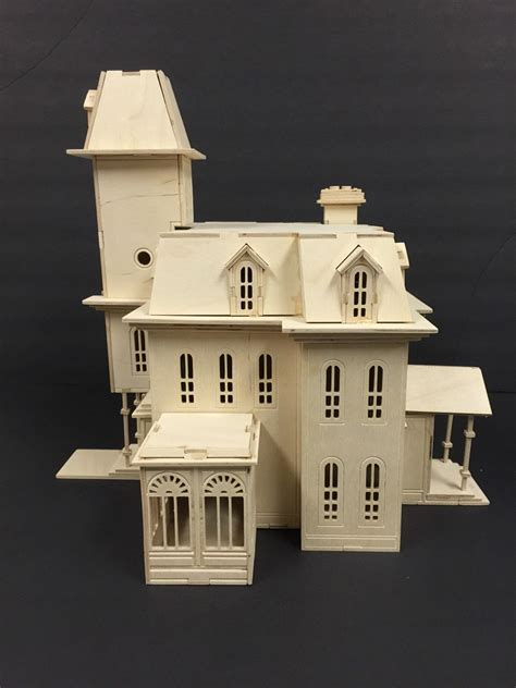 addams family house plans addam s family house model kit laser engraved wooden