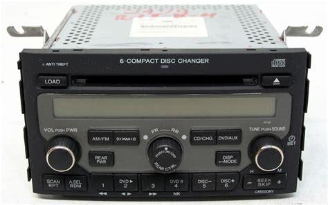 honda pilot   factory stereo  disc changer cd player xm ready radio pv