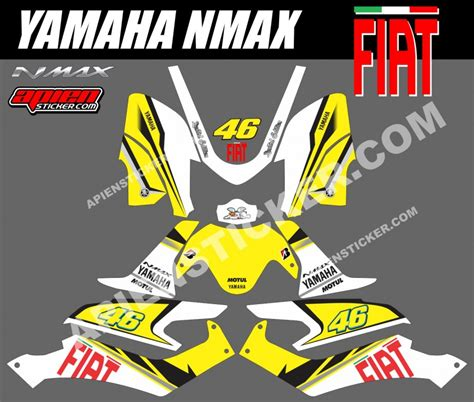 Striping X Ride Fox Hijau striping motor yamaha nmax fiat kuning apien sticker