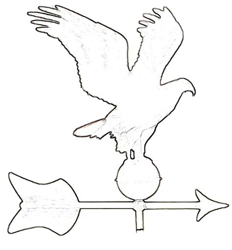 Weathervane Colouring Pages Page 2 Sketch Coloring Page Wind Vane Template