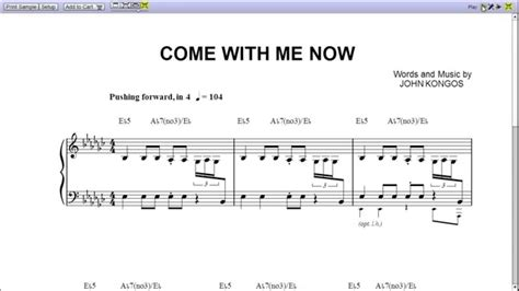With Me Now come with me now by kongos piano sheet teaser