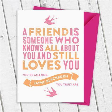 card friend best friend card by a is for alphabet notonthehighstreet