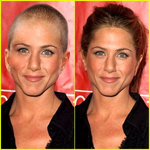 why did stephanie abrams cut her hair jennifer aniston did not shave her hair off real photos