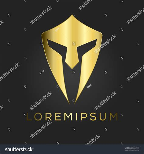 Helm Security Logo by Centurion Warrior Helmet Logo Design Element Security