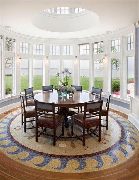 circular dining room design by principles of design rhythm