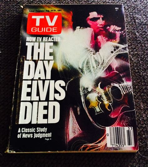 day tv guide vintage tv guide the day elvis died