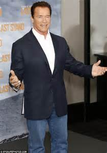 Arnold schwarzenegger arrives in london to promote the last stand but