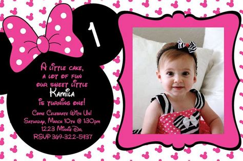 1st birthday invitation template free printable minnie mouse birthday invitations free printable minnie