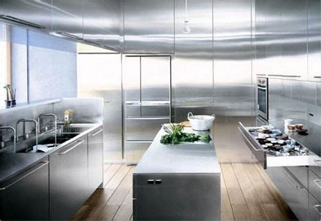 Stainless Steel Kitchen Design by Spaces That Shine Steel Amp Copper In Interior Design