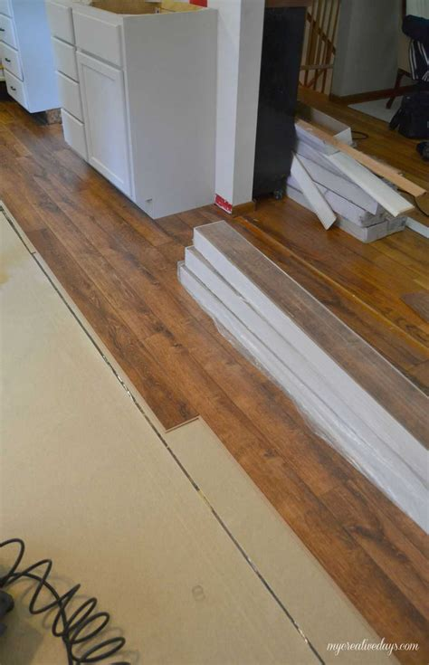 Easy Way To Cut Laminate Flooring by Kitchen Makeover Laminate Flooring Creative Days