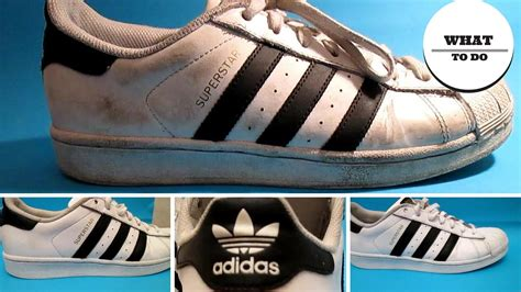 how to clean adidas superstar white shoes