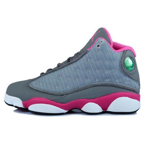 inexpensive sneakers air 13 retro mid grey pink white cheap shoes