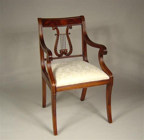mahogany armchair lyre back dining room chairs solid mahogany schmieg kotzian design