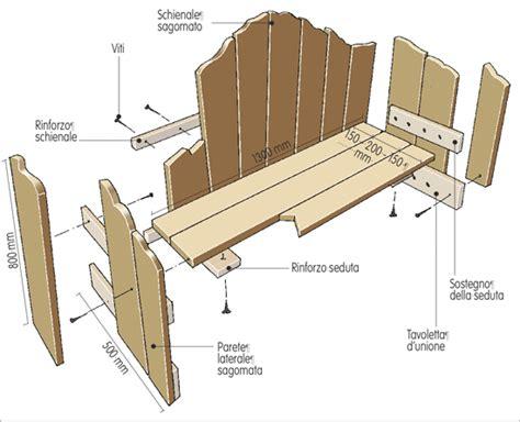 costruire una panchina costruire una panca da giardino fai da te in giardino