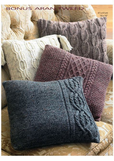 knitting pattern cushion cover vintage aran cushion cover set knitting pattern digital