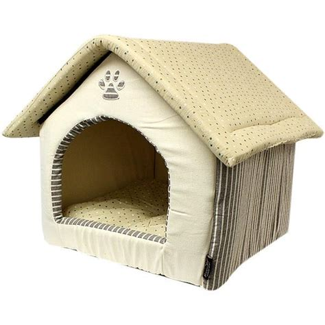 plush dog house parisian pet almond plush dog house khaki with same day shipping baxterboo