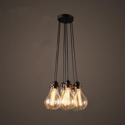 Industrial Cluster Multi Light Pendant In Exposed Edison Exposed Bulb Pendant Light