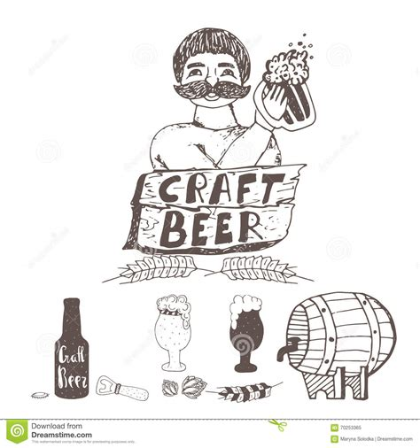 doodle craft doodle craft elements brewer with glass of