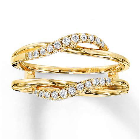 enhancer ring 1 5 ct tw cut 14k yellow