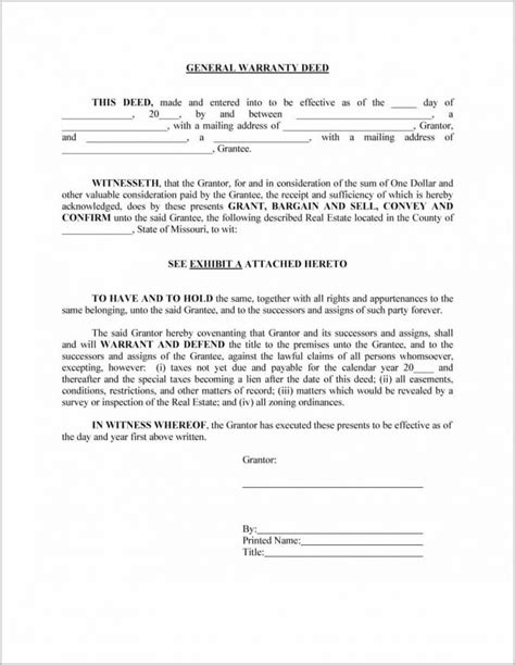 General Warranty Deed Form Pennsylvania Form Resume Exles Bjzenkxz9l Pennsylvania Deed Template