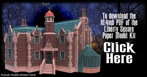 Haunted Mansion Papercraft - liberty square paper model kit