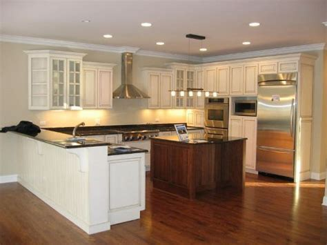 Kitchen Design Island Modern Minimalist Amish Kitchen Cabinets Design Ideas
