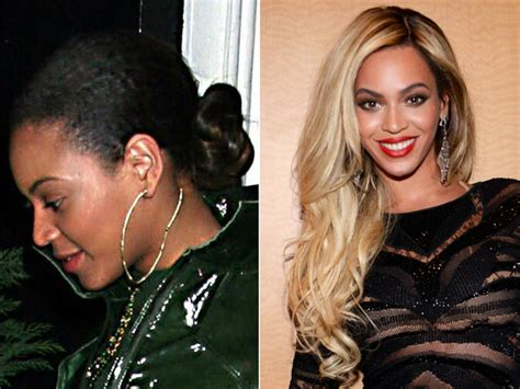 beyonce one sided weaving celebrities without their weaves celebrities with
