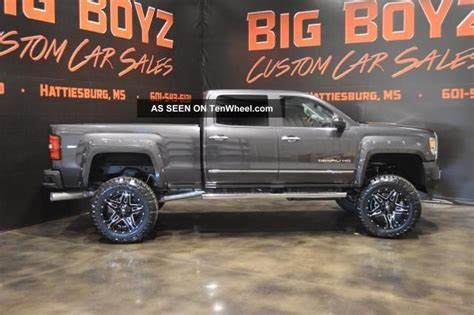 custom lifted gmc denali