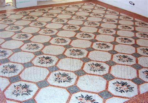 pavimento mosaico pavimento in mosaico di marmo con decoro personalizzato
